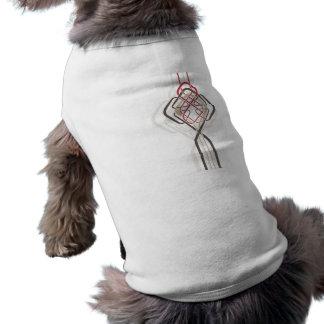 celtic knot background. sleeveless dog shirt
