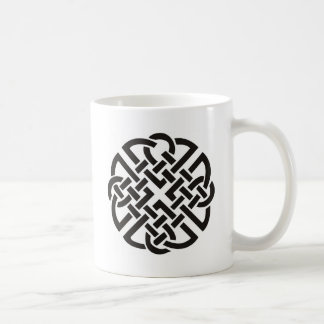 Celtic Knot Black and White Coffee Mug