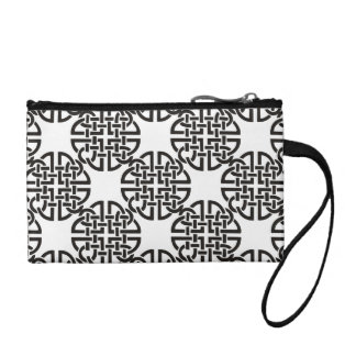 Celtic Knot Black and White Coin Purse