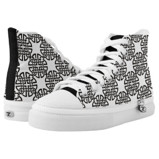 Celtic Knot Black and White High Tops