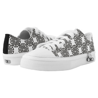 Celtic Knot Black and White Low Tops