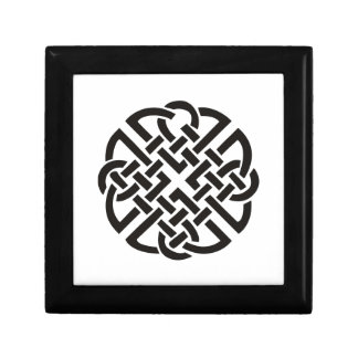 Celtic Knot Black and White Small Square Gift Box