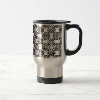Celtic Knot Black and White Travel Mug
