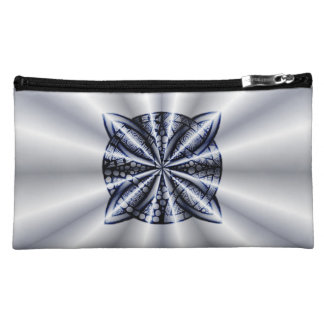 Celtic Knot Blue Metallic Cosmetic Bags