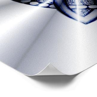 Celtic Knot Blue Metallic Poster