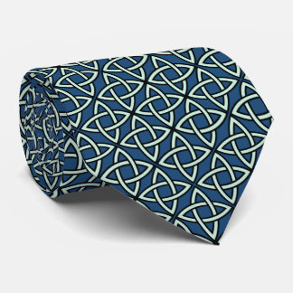 Celtic Knot Blue Scottish Tie
