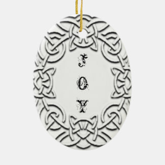 "Celtic Knot Christmas ""Joy"" Ornament"
