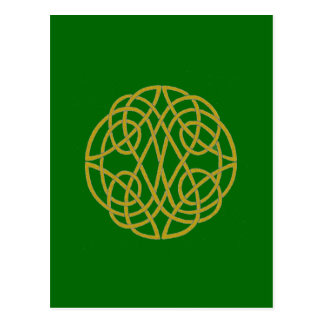 Celtic Knot Circle Postcard