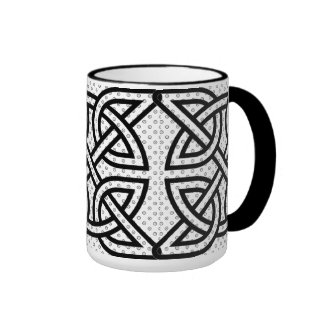 Celtic Knot Coffee Cup Ringer Mug