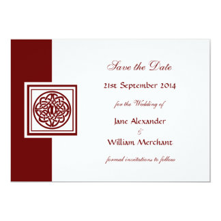 Celtic Knot Color Select Save the Date 13 Cm X 18 Cm Invitation Card