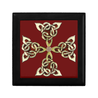 Celtic Knot Cross 2 Small Square Gift Box