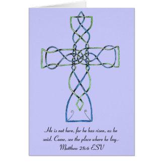 Celtic Knot Cross Easter Card