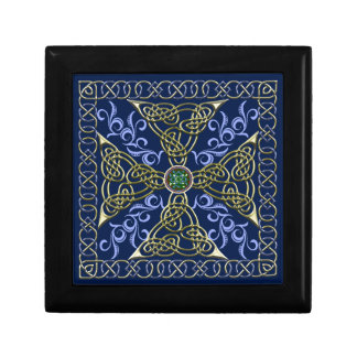 Celtic Knot Cross Small Square Gift Box