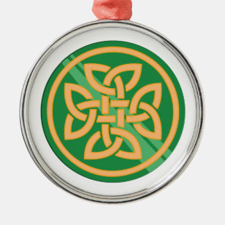 Celtic Knot Silver-Colored Round Decoration