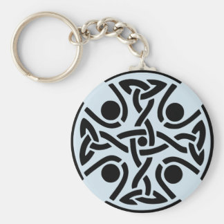 Celtic knot design Basic round KeyChain