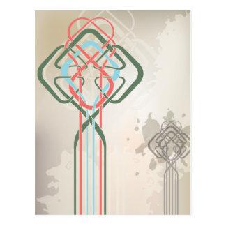 celtic knot design postcard