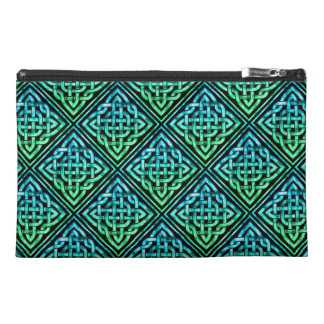 Celtic Knot - Diamond Blue Green Travel Accessory Bags