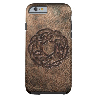 Celtic knot embossed on leather tough iPhone 6 case