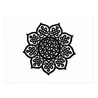 Celtic Knot flower Postcard