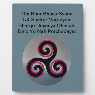 Celtic Knot Gayatri Mantra Om Bhur Bhuvah, Plaque