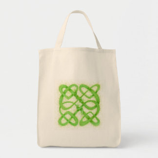 Celtic Knot I - Organic Grocery Tote Canvas Bag