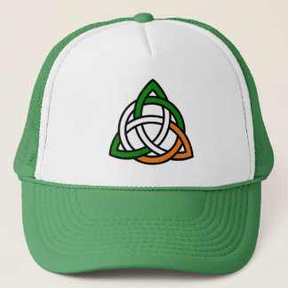 Celtic Knot in Green Orange and White Trucker Hat
