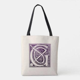 Celtic Knot Initial - G - Purple Tote Bag