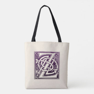Celtic Knot Initial - Z - Purple Tote Bag