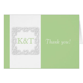 Celtic Knot Initials - Customize Background color Card