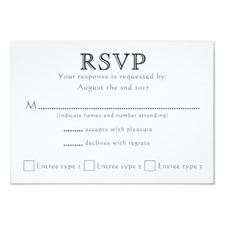Celtic Knot Initials - RSVP - black & white Card