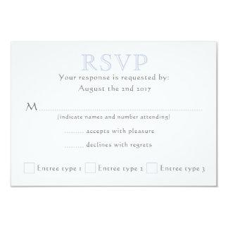 Celtic Knot Initials - RSVP - Mist - 2 Card