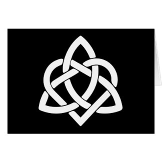 Celtic Knot Initials - Thank You - Black and White Card