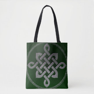 celtic knot ireland ancient symbol pagan irish gre tote bag