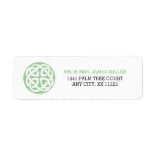 Celtic Knot Irish wedding party address 3991 Return Address Label