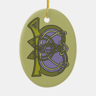 Celtic Knot letter initial monogram B Ceramic Ornament