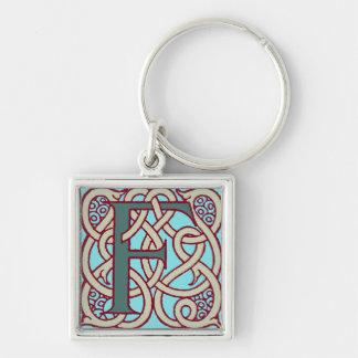Celtic Knot letter initial monogram F Key Ring