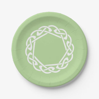 Celtic Knot - light green Paper Plate