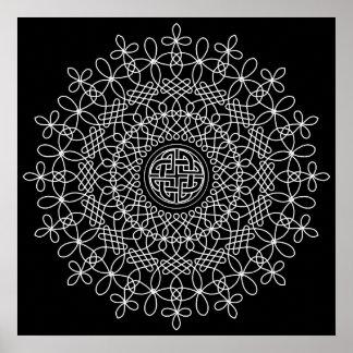 Celtic Knot Mandala 2 Poster