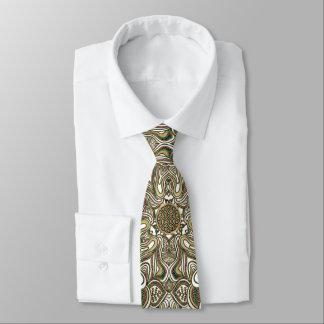 Celtic Knot Mandala Animal Stripe Tie