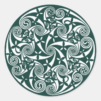 Celtic Knot Medallion Round Design, Irish Artwork Round Sticker