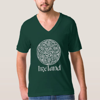 Celtic Knot Medallion Round Design, Irish Artwork T-Shirt