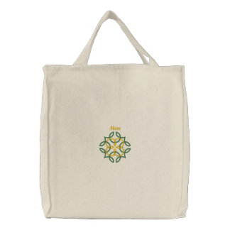 Celtic Knot - Mom - Green, Gold - Great Gift Idea Embroidered Tote Bag