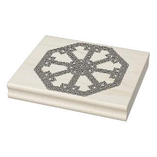 Celtic knot octagon pattern art stamp