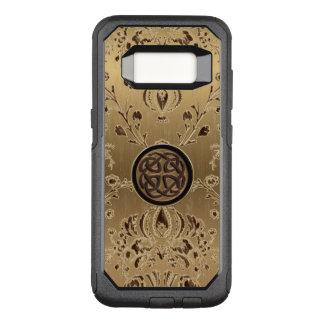 Celtic Knot on Metallic Gold Damask Galaxy S8 Case