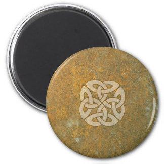 Celtic Knot on Stone 6 Cm Round Magnet