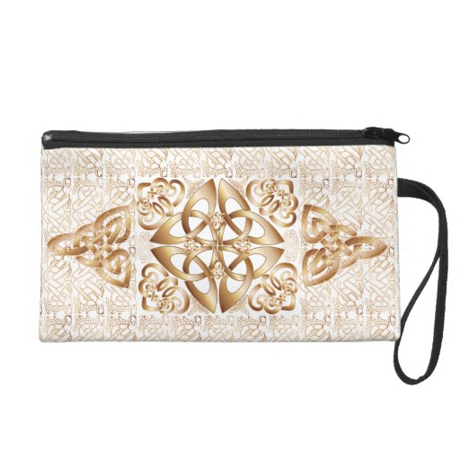 Celtic Knot on white Wristlet Clutches