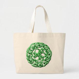 Celtic knot ornamentation celtic knot tote bag
