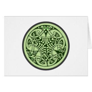 Celtic knot ornamentation celtic knot card