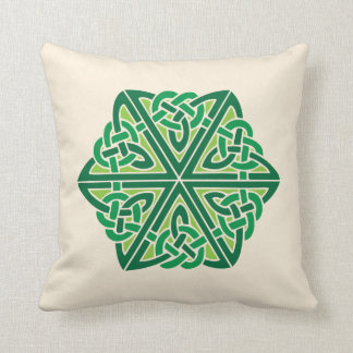 Celtic Knot Pattern 1 - Green Cushion