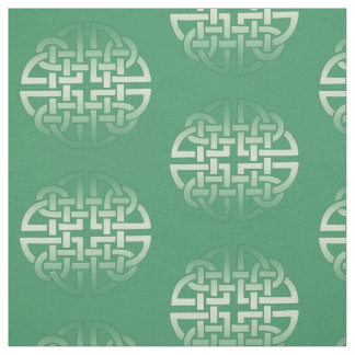 Celtic Knot Pattern on editable background color Fabric